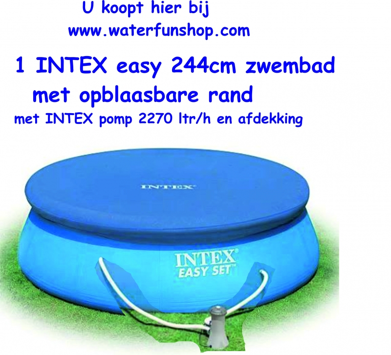 waterfunshop intex zwembaden intex 244 easy set met